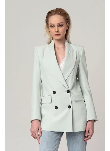 Coral Blazer Ceket Mint Yeşili Yeşil